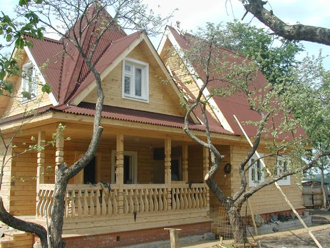 Загородные дома из дерева по новым технологиям