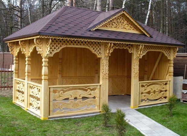 Беседка - приятноя место для отдыха на даче