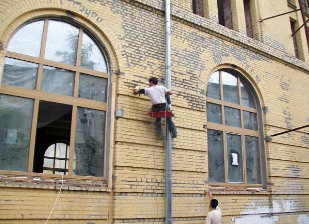 Виды ремонтных работ по фасаду здания
