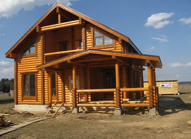 Строительство дома из деревянного бруса