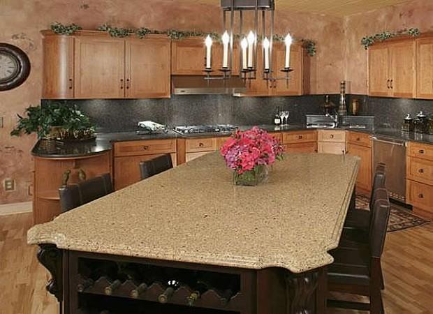Кухонная столешница из камня, агломерата