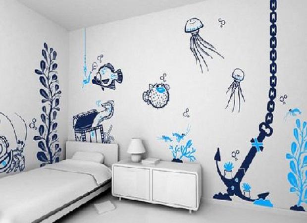 Чем отделать снены в детской комнате?