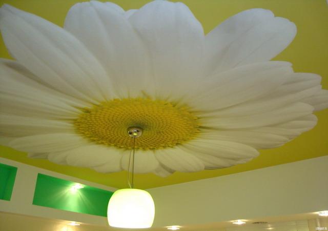 Ремонт потолка: жидкие обои