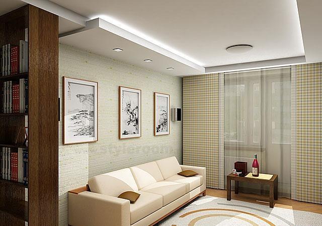 Выравнивание потолка в комнате гипсокартоном