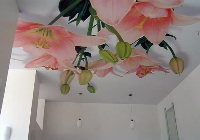Ремонт потолка: фотообои и их виды