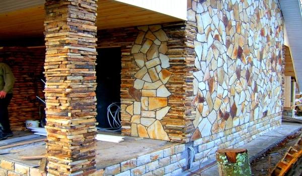 Облицовка зданий натуральным камнем