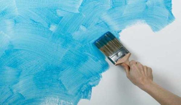Покраска поверхностей кистью