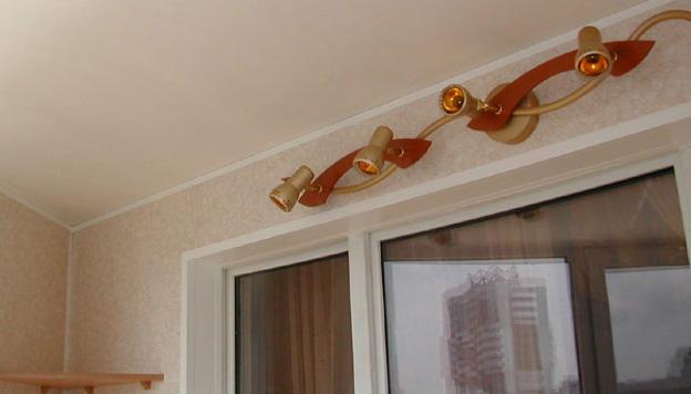 Освещение балкона или лоджии