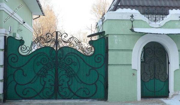 Ворота частного дома: откатные и распашные